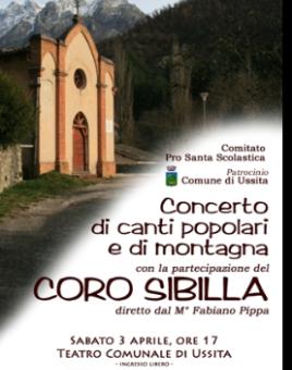 Concerto di canti popolari e di montagna, Ussita, 2010